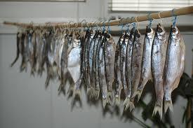Продажа вяленой рыбы